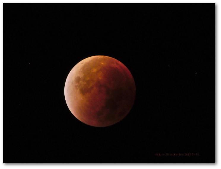 éclipse de lune 28 septembre 2015 6h